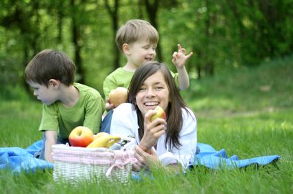 Photo: Kids having fun at a Picnic